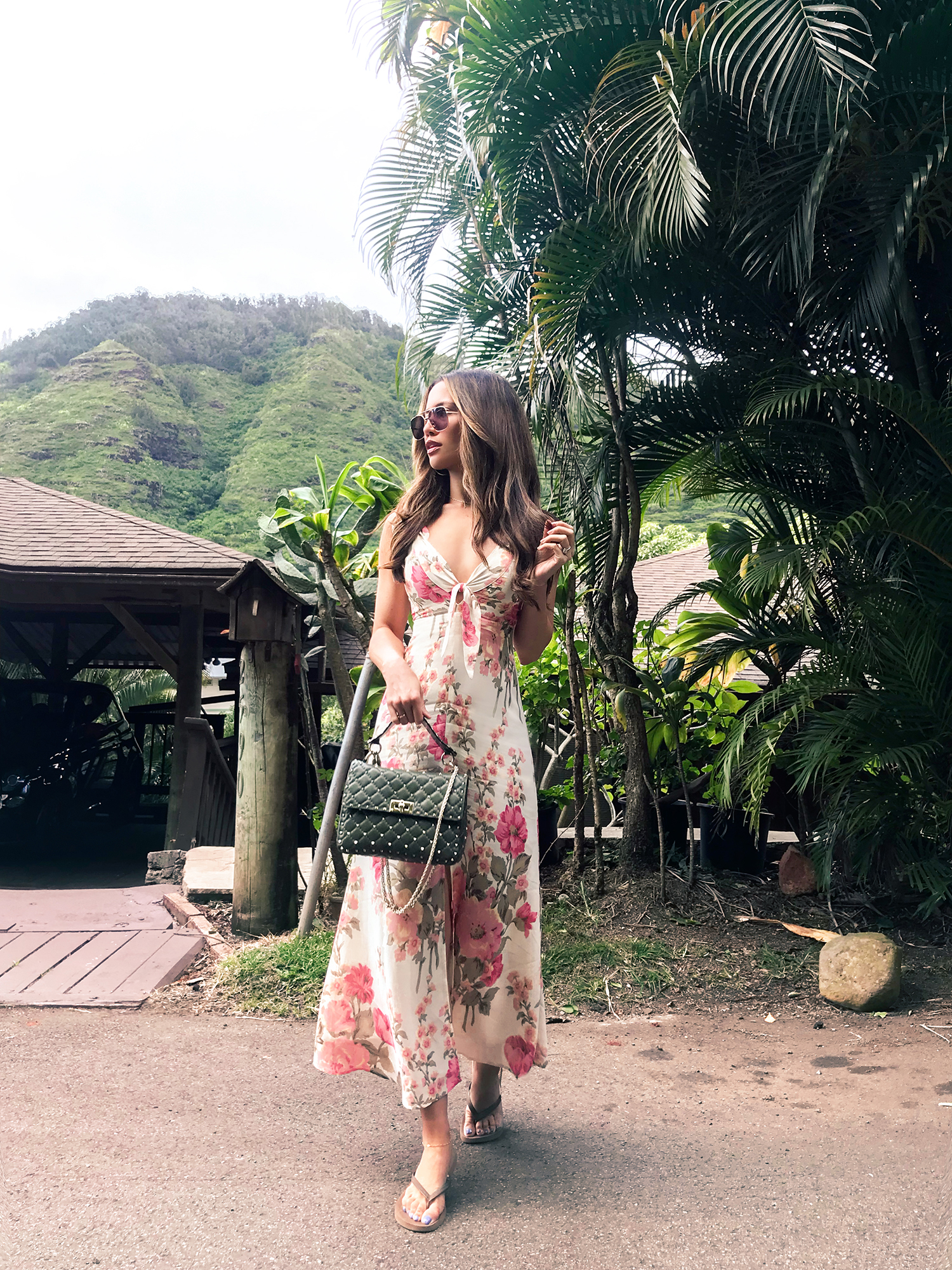 Jessi Malay wearing Reformation Maxi Dress