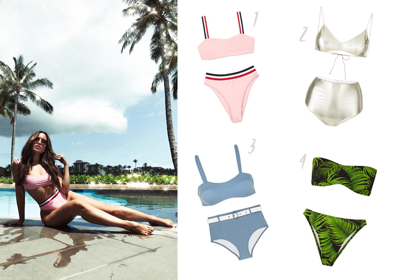 best high waisted bikini styles flattering
