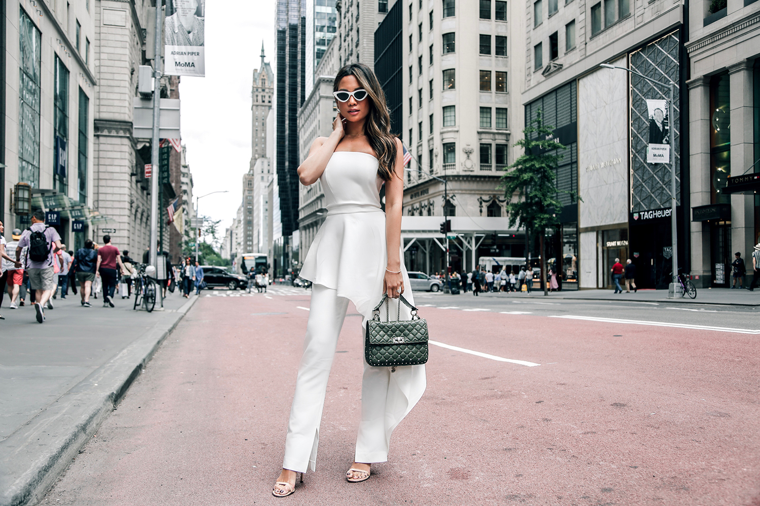Jessi Malay wearing AQAQ strapless jumpsuit