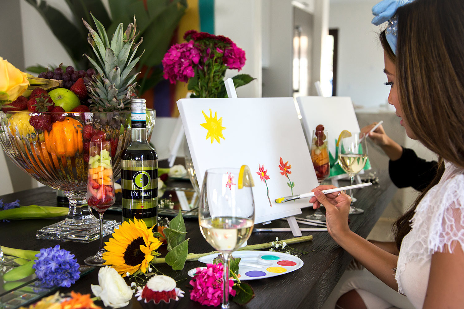 DIY Painting Party Decorations Wine Art