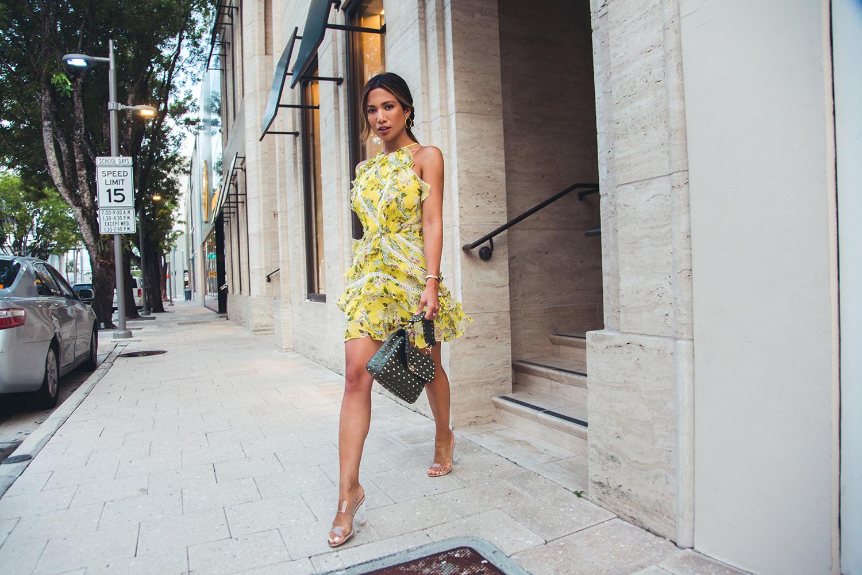 Jessi Malay wearing Marissa Webb Andrea Silk Print Dress