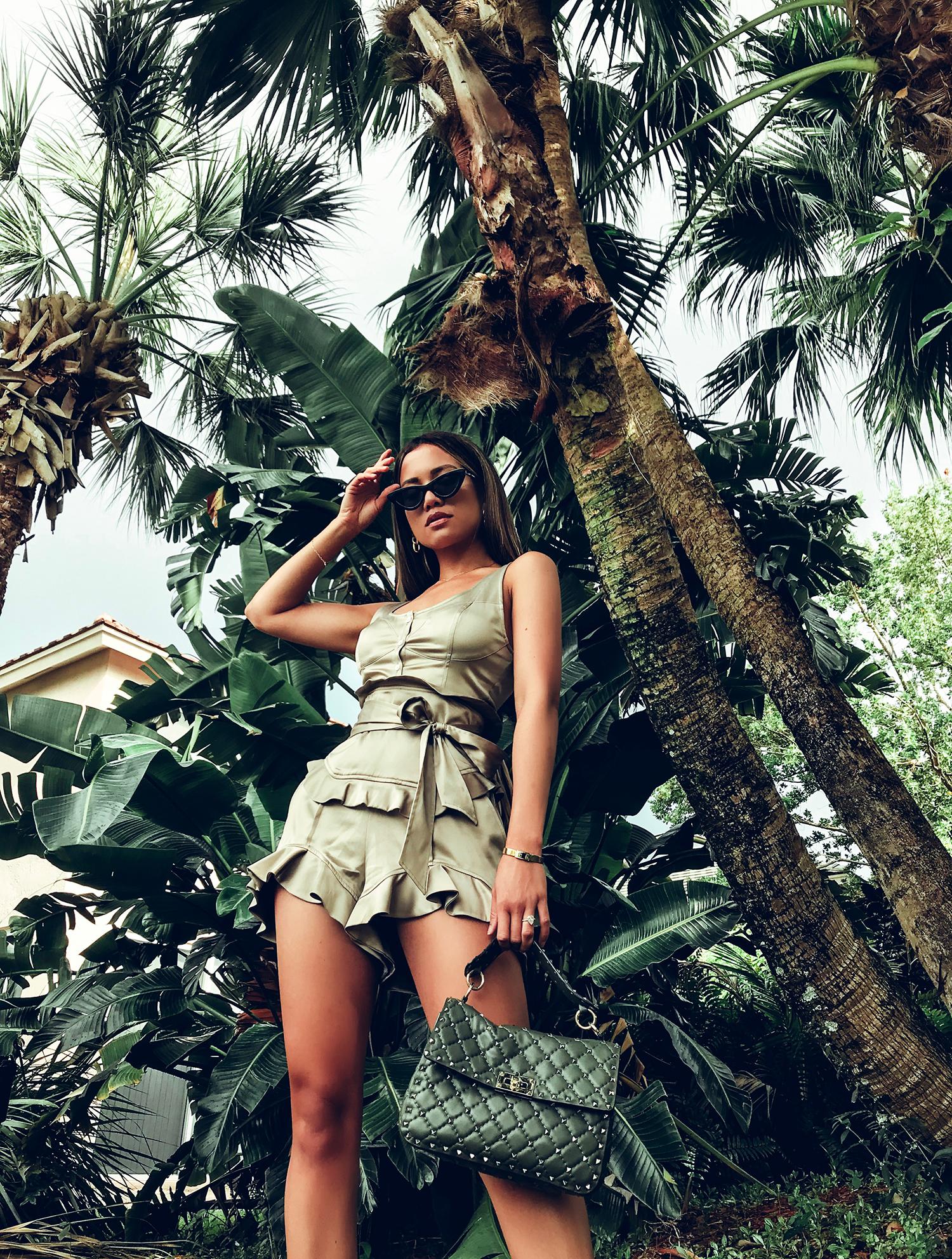 Jessi Malay wearing Marissa Webb NYC Matching Set
