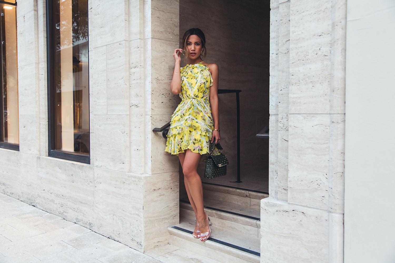 Marissa Webb Silk Printed Dress