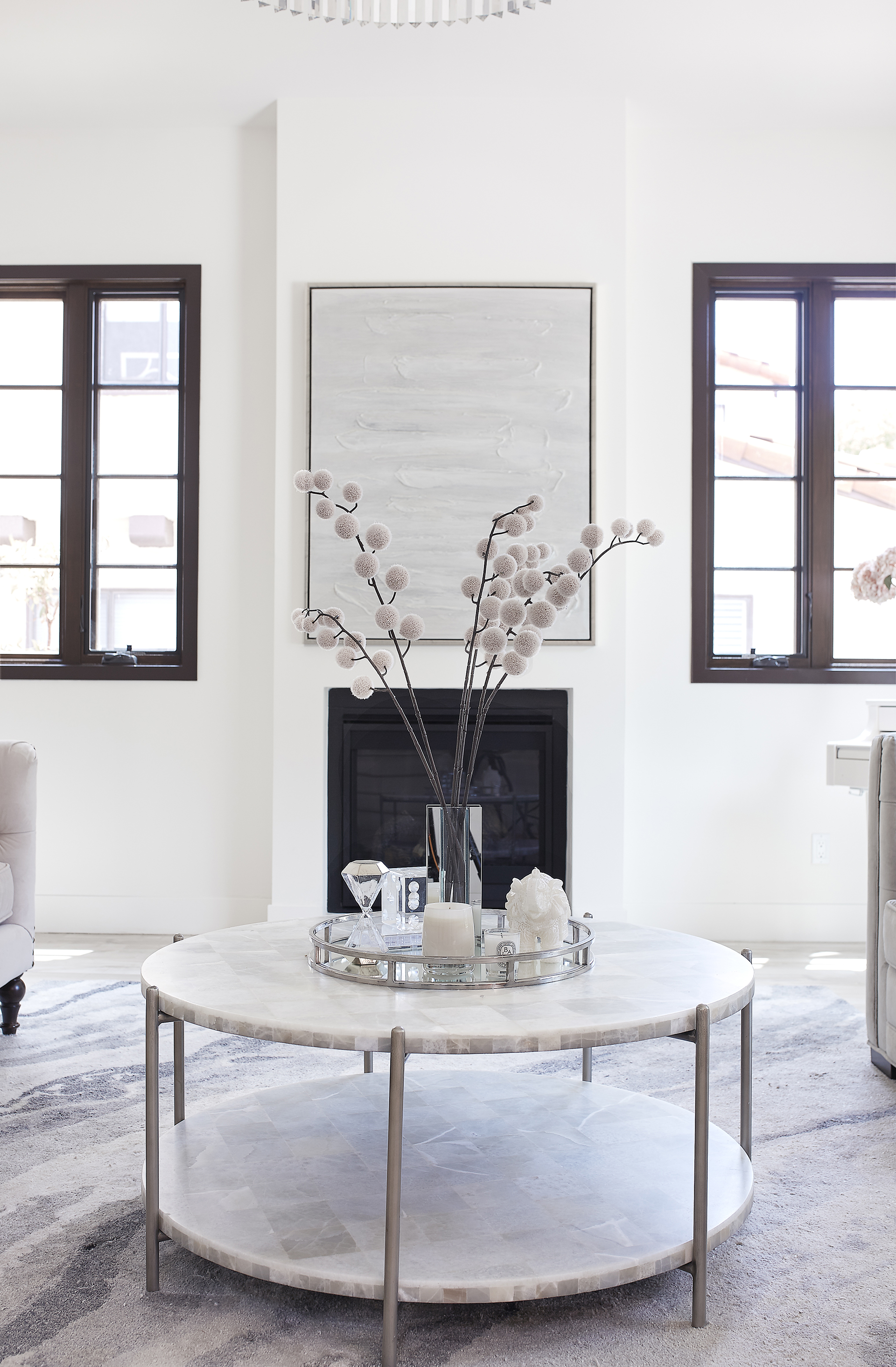 ZGallerie painting art over fireplace