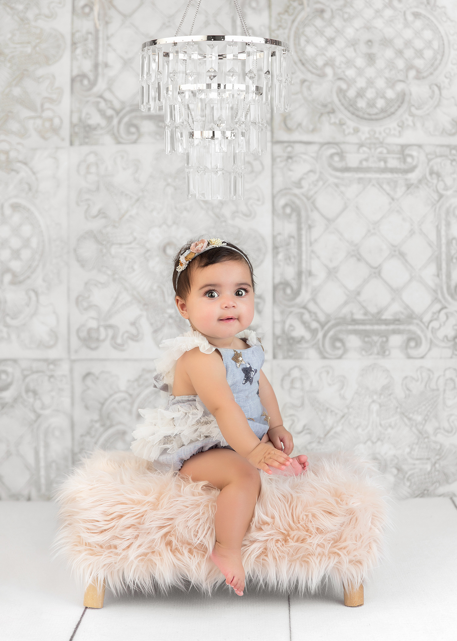baby girl 6 month shoot