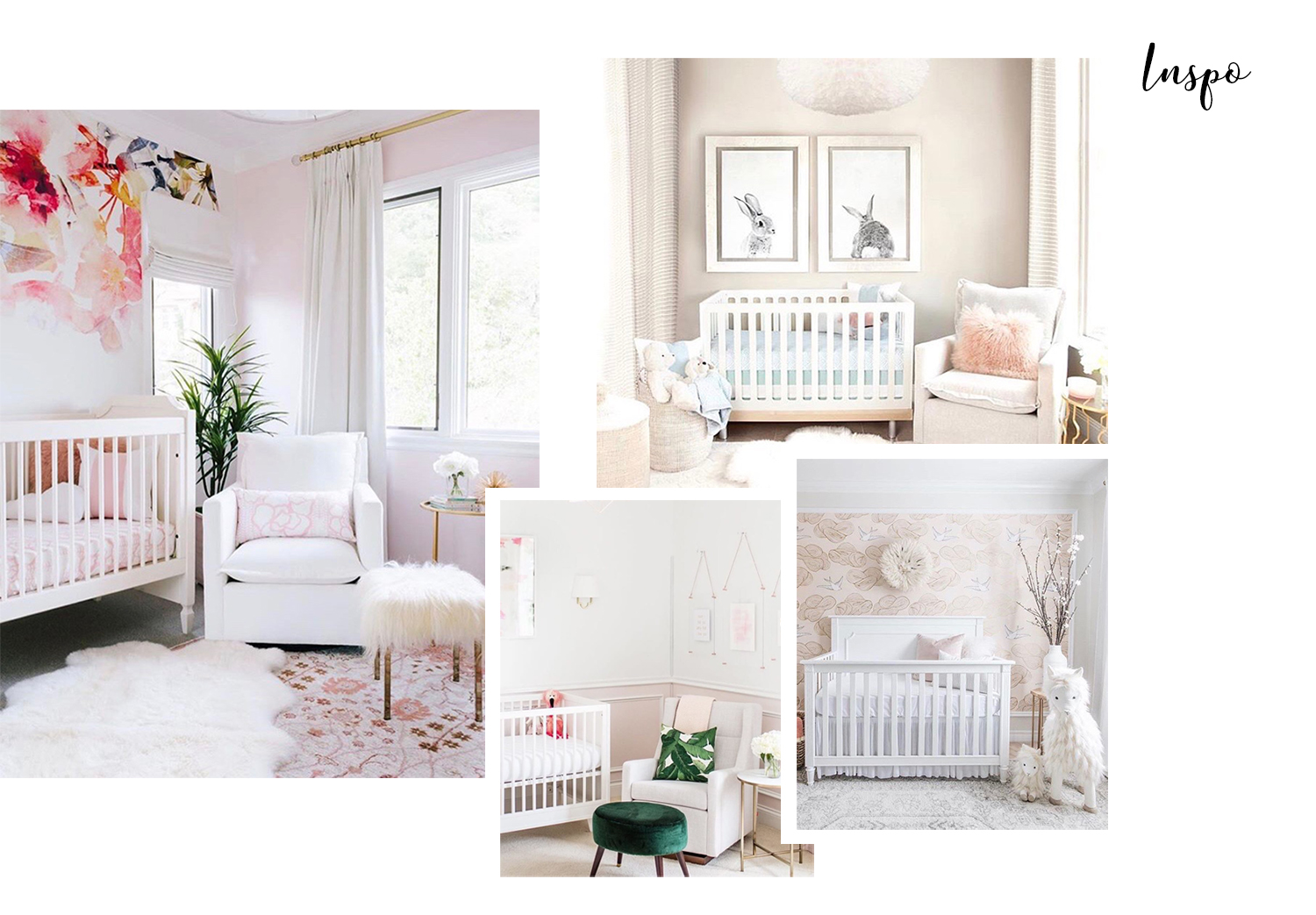 baby girl nursery inspiration Pinterest small room