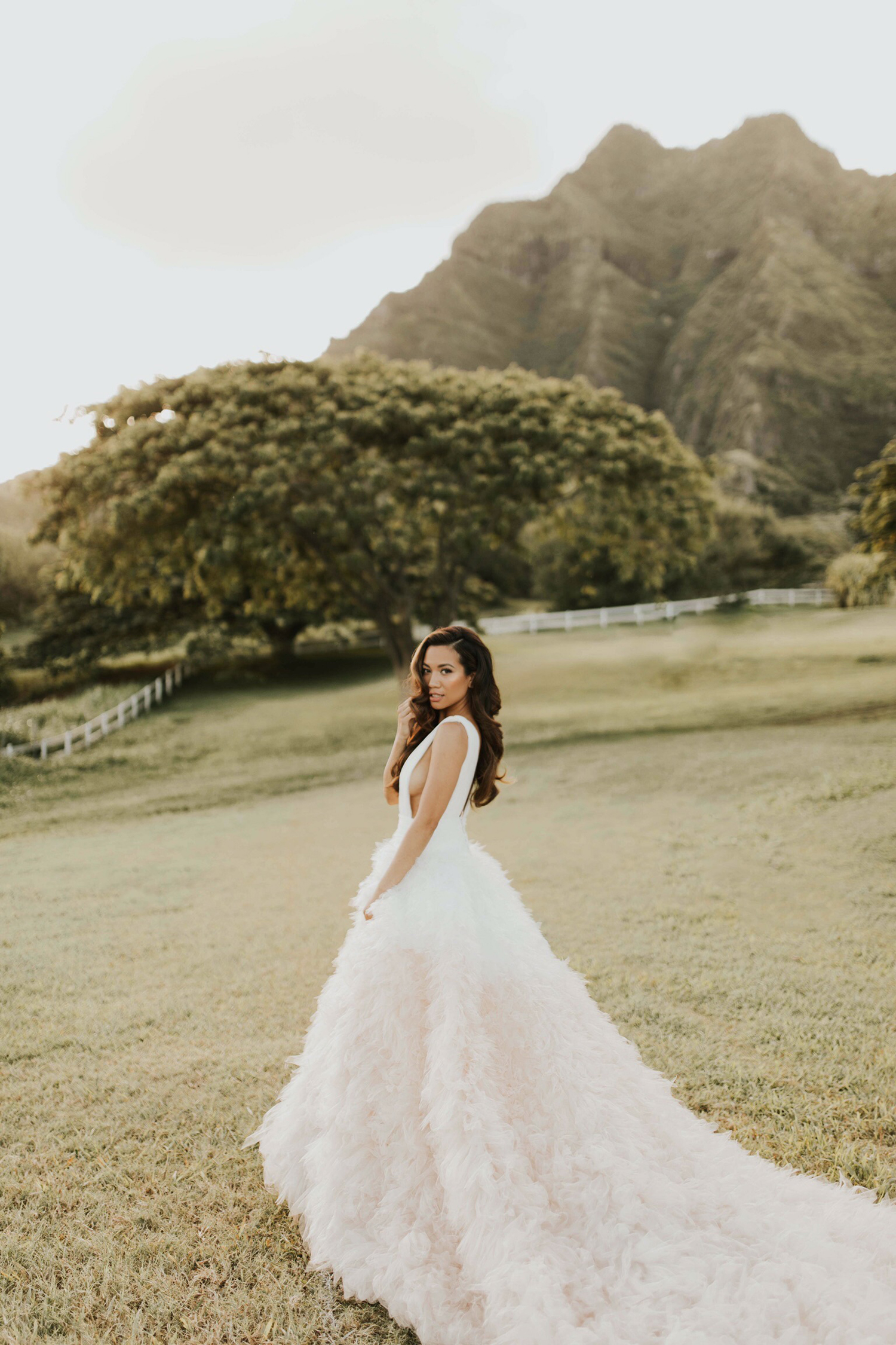 Jessi Malay in Pronovias Wedding Dress