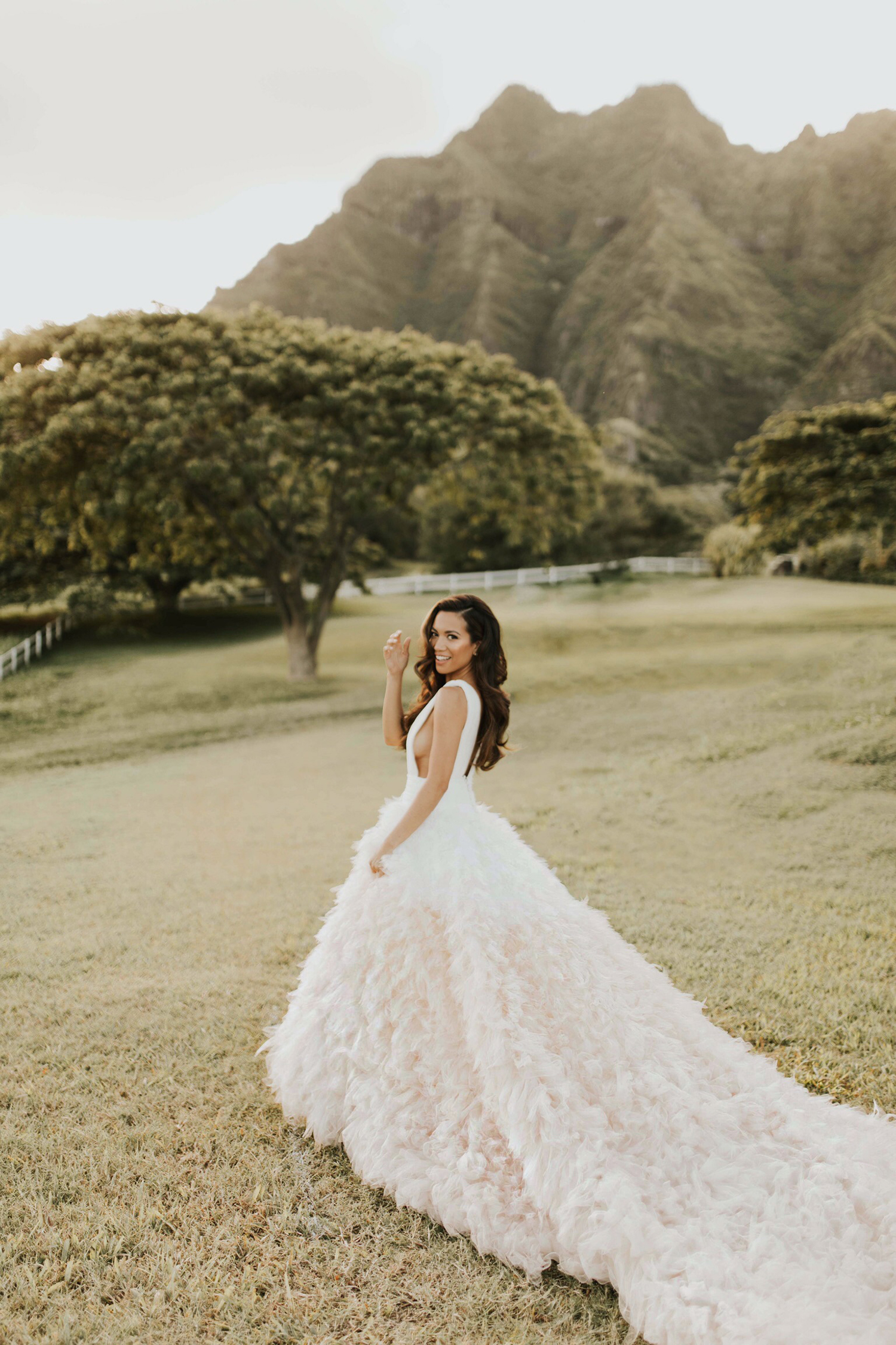 Jessi Malay wearing Pronovias