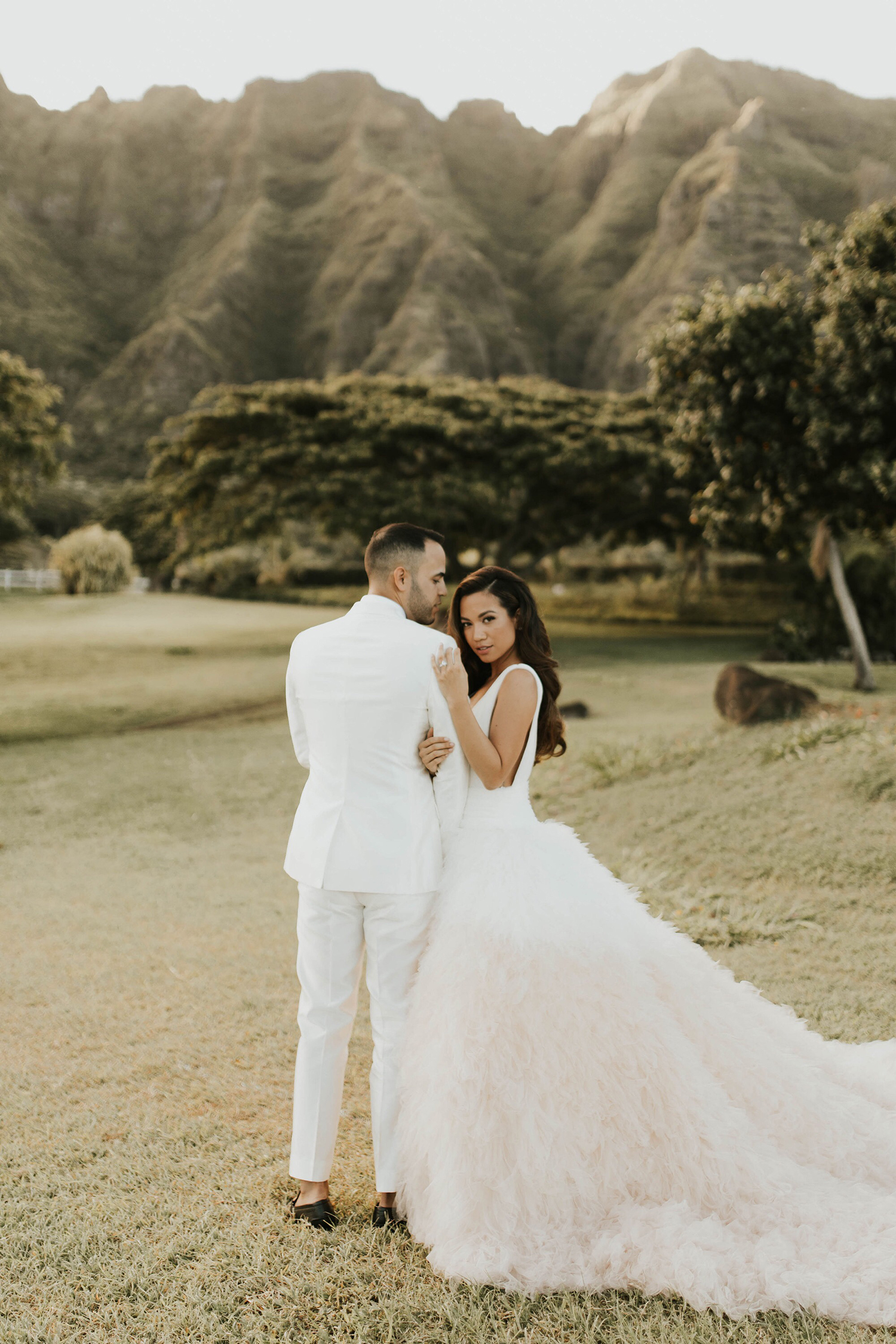 Jessi Malay Hawaii Wedding Pronovias