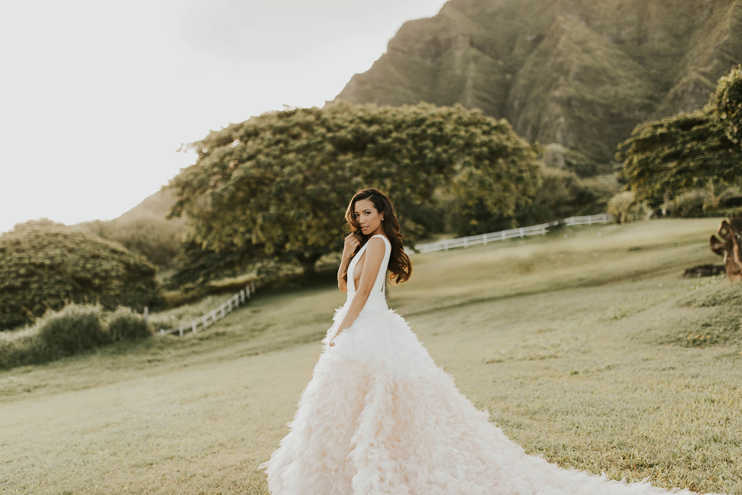 Pronovias Clemente Gown Jessi Malay Wedding