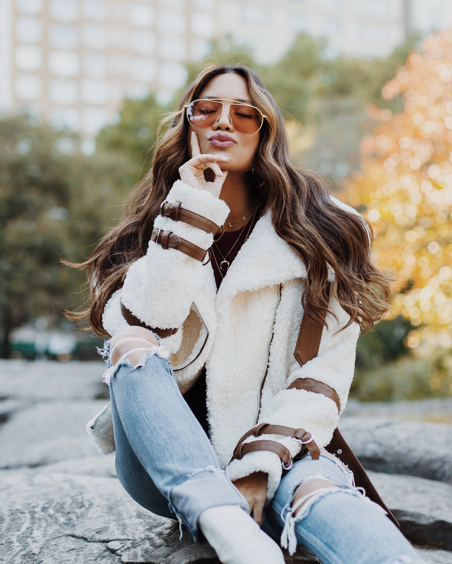 best teddy coats fall winter trend Revolve
