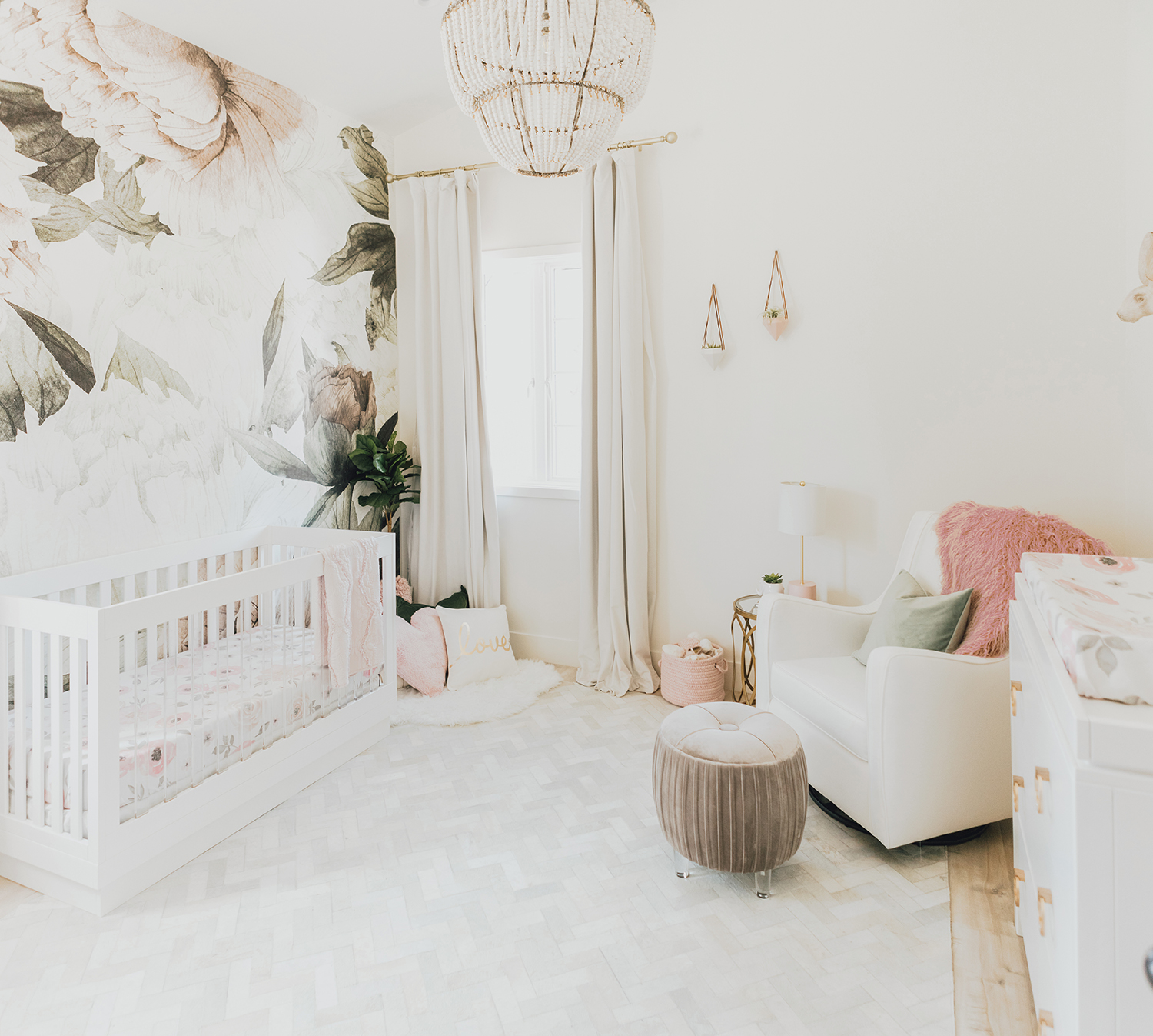 rug patterns baby girl nursery ideas