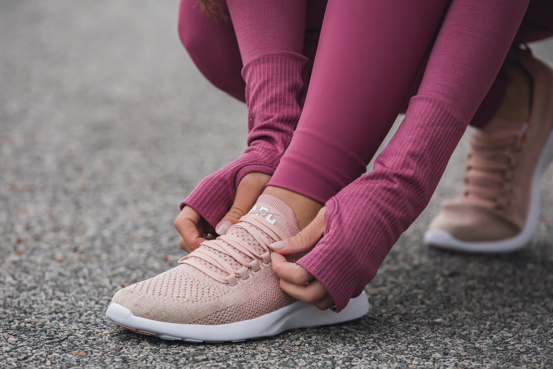 APL Techloom Sneakers Rose Gold athleisure trend