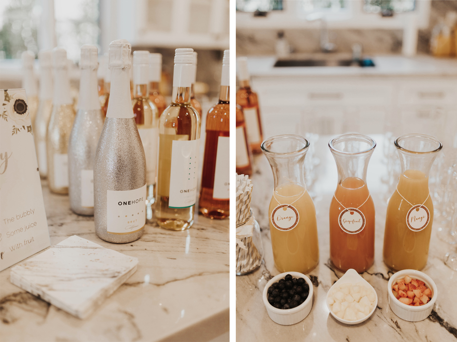DIY bubble mimosa bar pinterest ideas