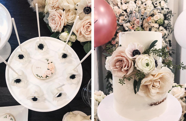 dessert table ideas for 1st birthday girl