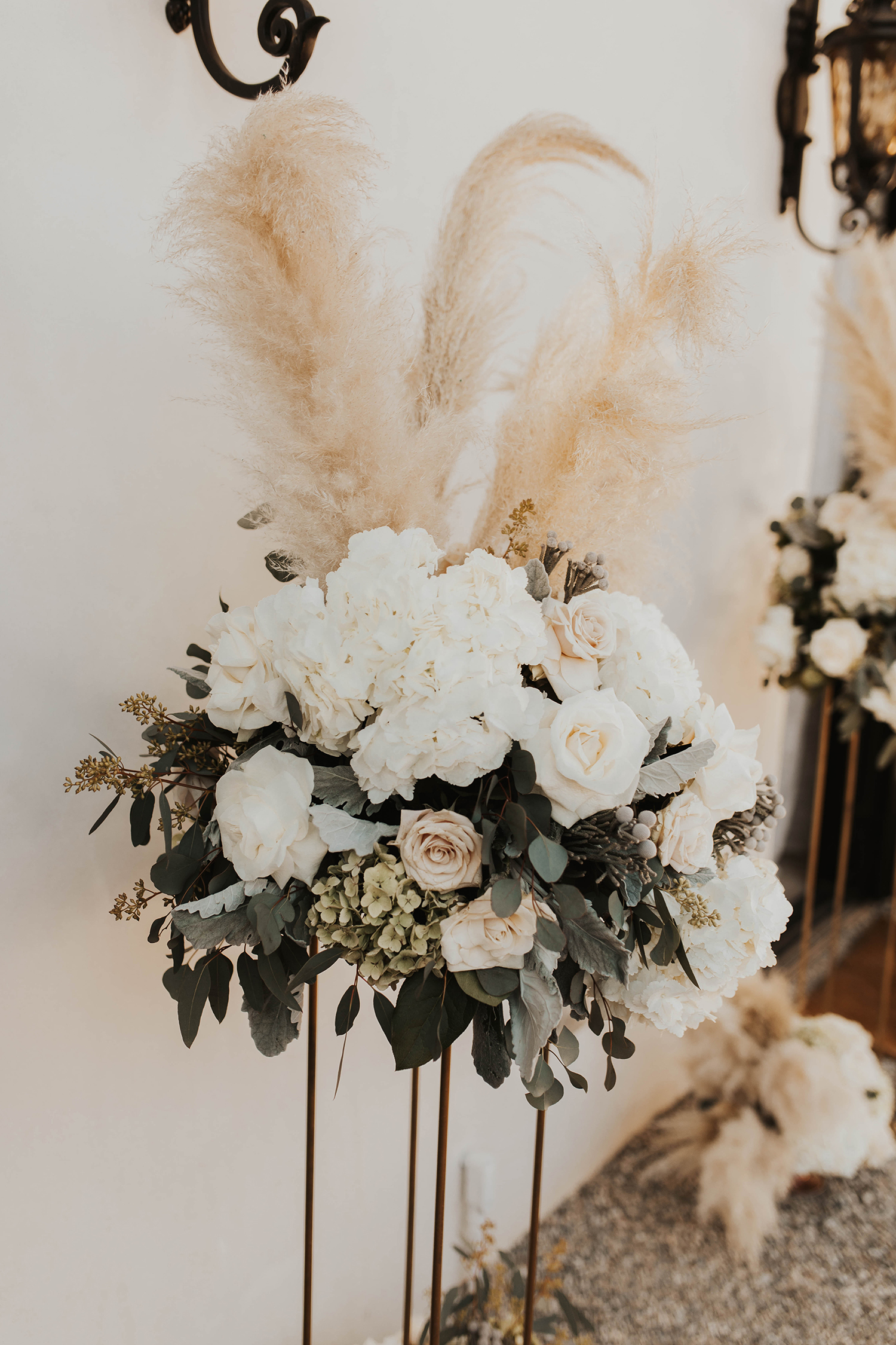 winter inspired florals pampas grass