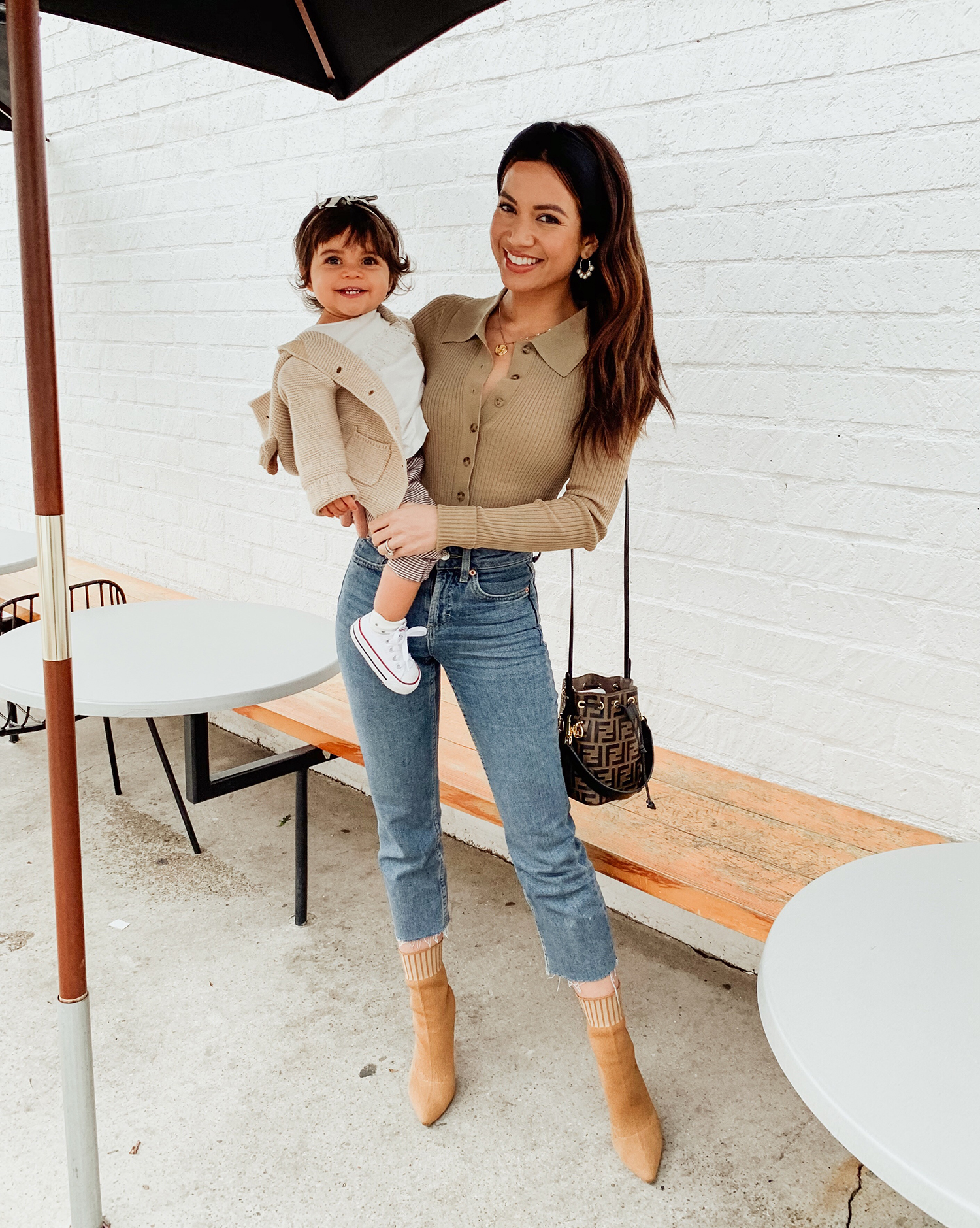 Jessi Malay mommy daughter OOTD
