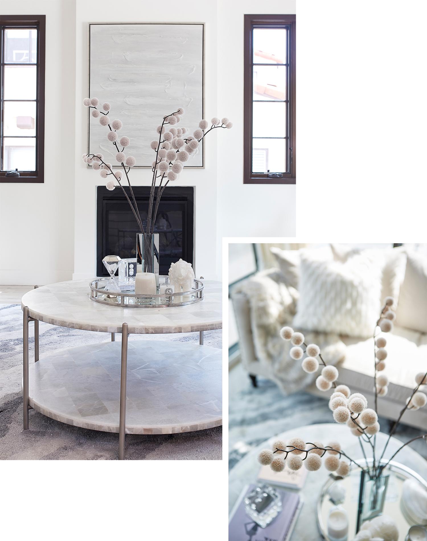 round coffee table decor ideas