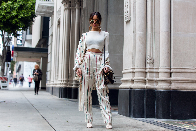 Jessi Malay wearing H&M trousers and blazer