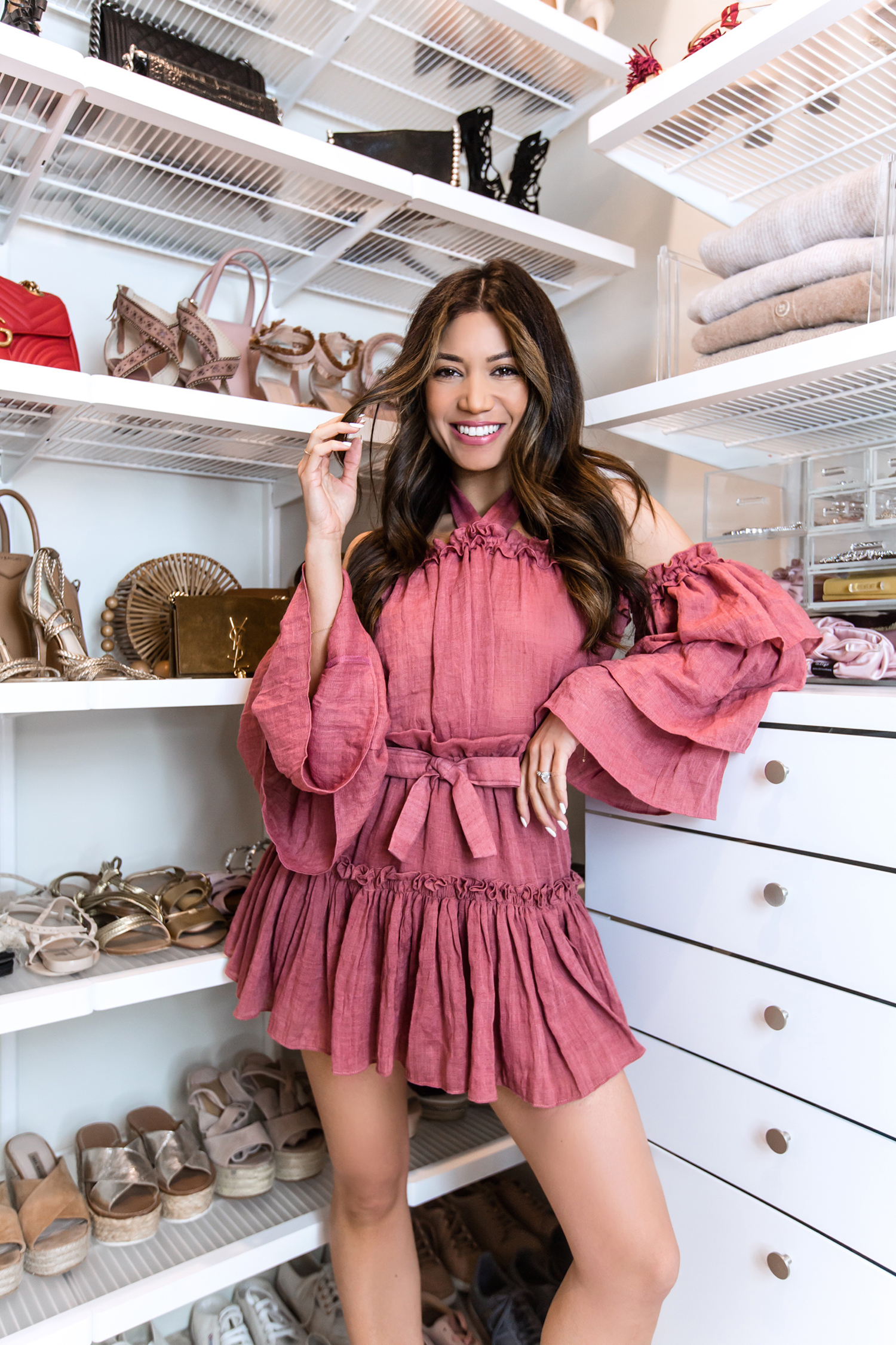 Jessi Malay new home closet makeover