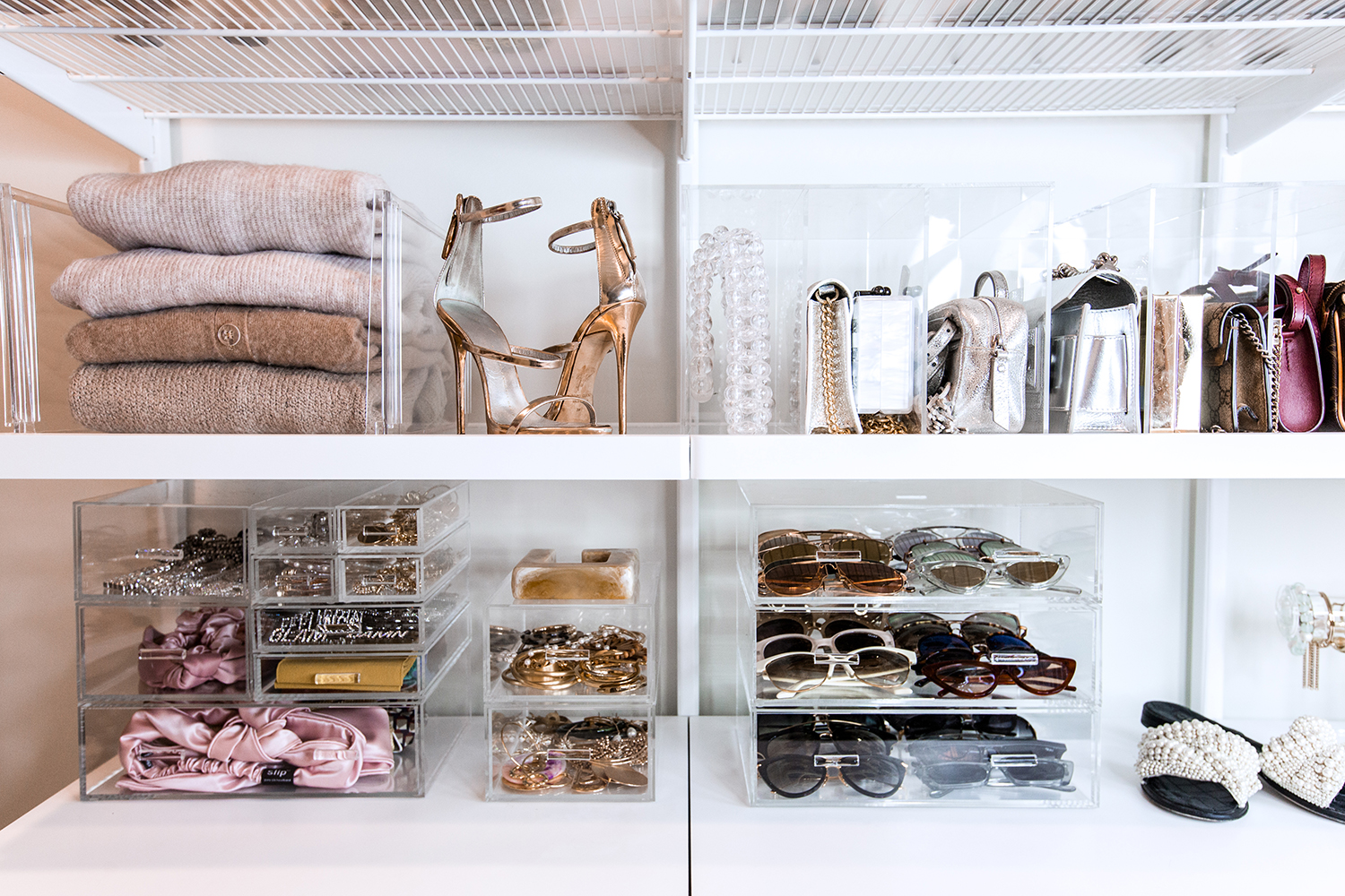 container store closet organizers acrylic