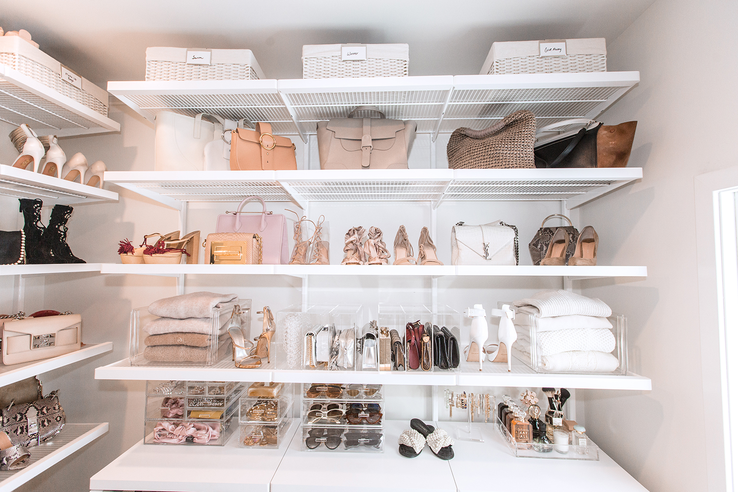 custom closet shelving ideaes