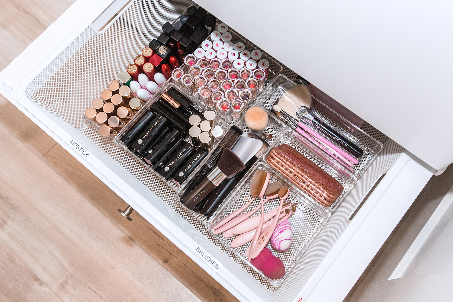 makeup organization storage