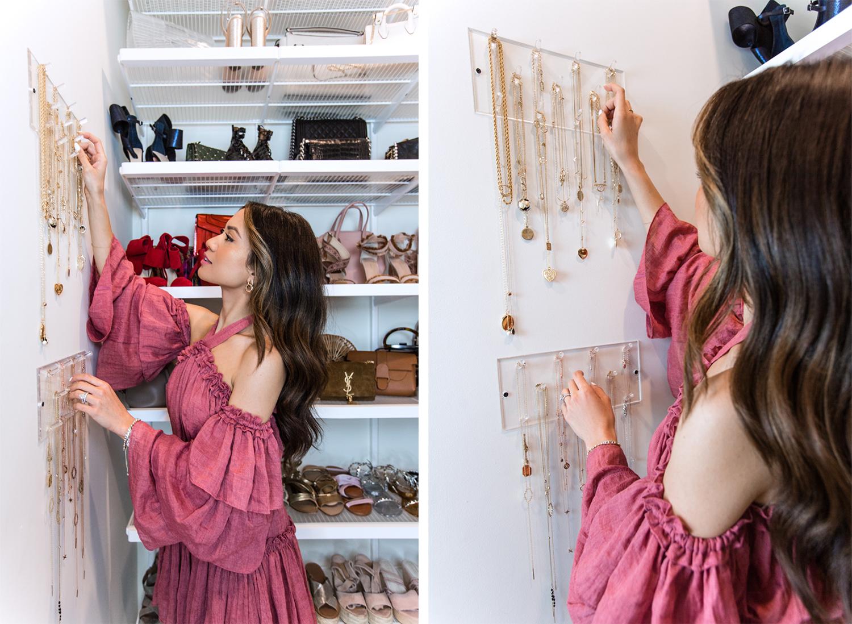 necklace closet organization