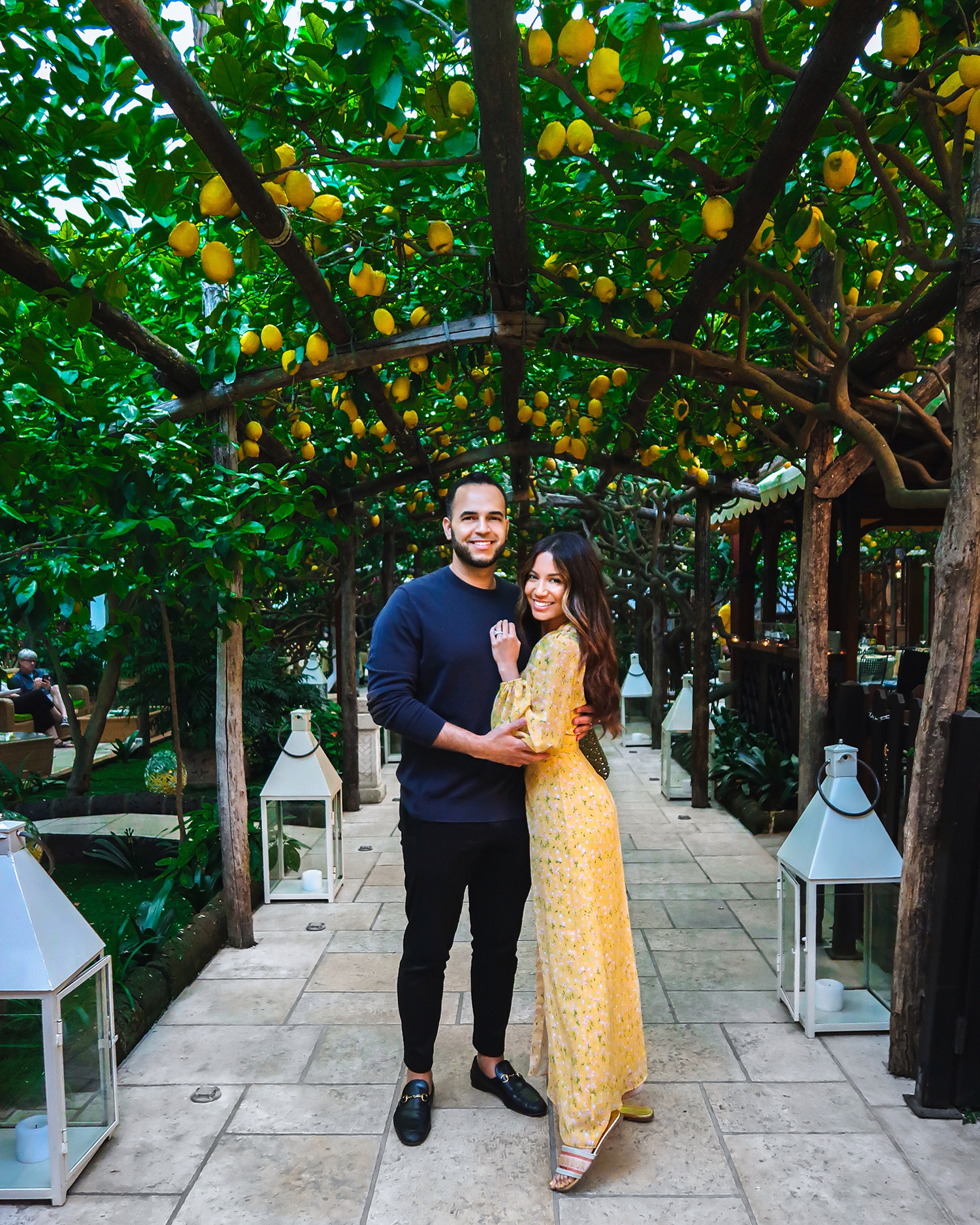 Jessi Malay and husband in Capri