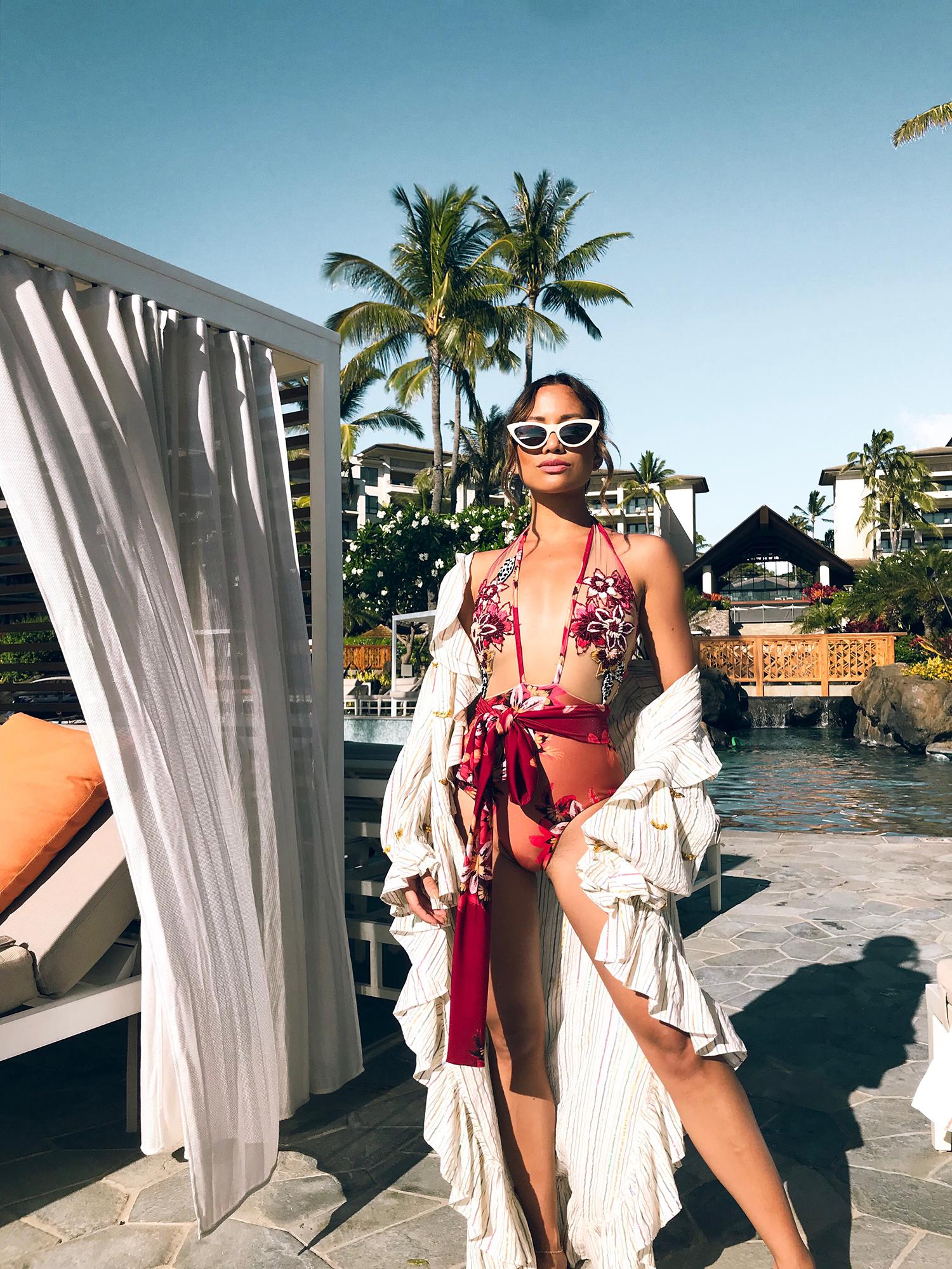 Jessi Malay wearing PatBo One-Piece Swimsuit