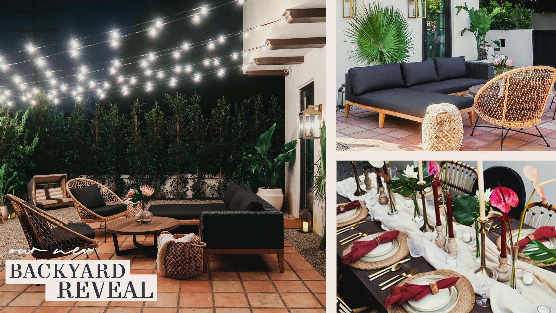 Jessi Malay backyard reveal artcile furniture