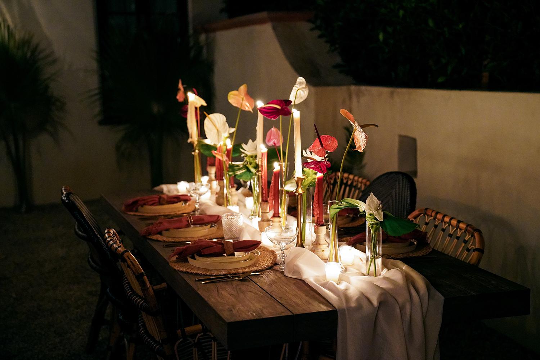 romantic tablescape decor