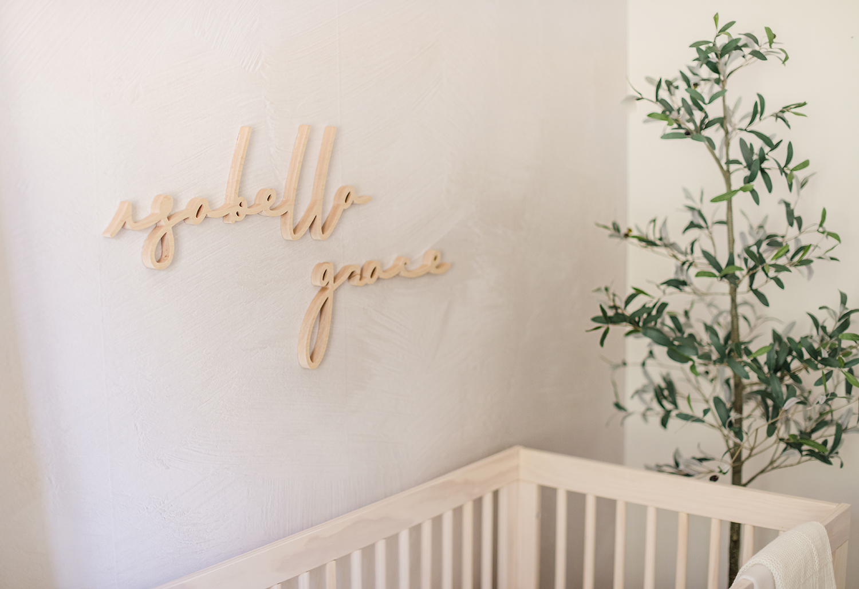 wooden nursery signage